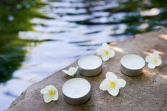 Schoonheid, kuuroord, lichaamsverzorging, gezondheidsconcept - water natuurlijke achtergrond met exemplaarruimte toevlucht stock afbeeldingen