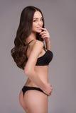 Schoonheid in lingerie. Royalty-vrije Stock Afbeelding