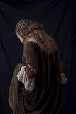 Schoonheid in middeleeuwse kleding Royalty-vrije Stock Foto's