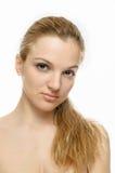 Schoonheid ModelPortrait, lang haar Royalty-vrije Stock Afbeeldingen