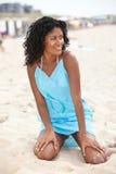 Schoonheid op het strand royalty-vrije stock afbeeldingen