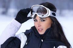 Schoonheid op sneeuw in openlucht stock afbeeldingen