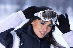 Schoonheid op sneeuw in openlucht Royalty-vrije Stock Foto
