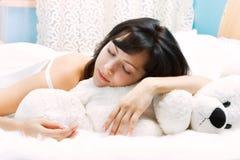 Schoonheid-slaap Royalty-vrije Stock Afbeelding