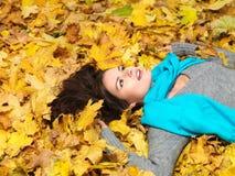 Schoonheid tijdens de herfst stock afbeelding