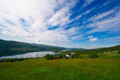 Schoonheid van de fjorden van Noorwegen Stock Foto's