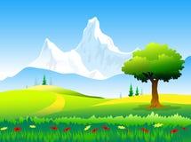 Schoonheid van de pieken & het Landschap van Himalayagebergte Stock Illustratie