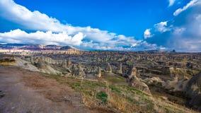 Schoonheid van de Valleilandschap van Cappadocia Göreme in Turkije stock afbeelding