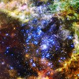 Schoonheid van diepe ruimte Elementen van dit die beeld door NASA wordt geleverd royalty-vrije illustratie