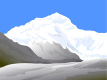 Schoonheid van Himalayagebergte - Vectorillustratie Royalty-vrije Stock Foto's