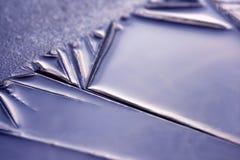 Schoonheid van ijs - close-up Stock Afbeelding