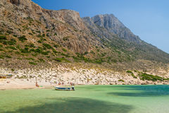 Schoonheid van Kreta - Balos-baai Stock Fotografie