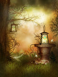 Schoonheid van Magische Tuin Royalty-vrije Stock Afbeeldingen