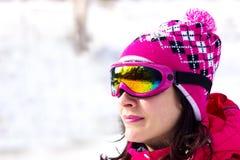 Schoonheid van wintersporten Stock Afbeeldingen