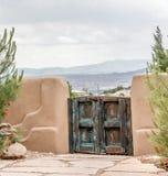 Schoonheid voorbij de omheining in Placitas New Mexico Royalty-vrije Stock Foto