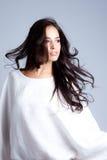Schoonheid in wit stock fotografie