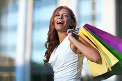 Schoonheids winkelende vrouw Royalty-vrije Stock Foto
