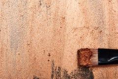 Schoonheidsborstel op glanzende gesmeerde Oppervlakte royalty-vrije stock foto