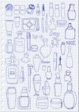 Schoonheidsmiddelen vector illustratie