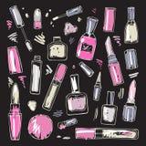 Schoonheidsmiddelen De Reeks van de make-up Stock Foto's