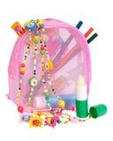 Schoonheidsmiddelen en kostuumjuwelen voor meisjes Royalty-vrije Stock Foto