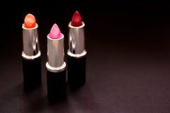 Schoonheidsmiddelen en samenstelling, groep lippenstift Royalty-vrije Stock Afbeeldingen