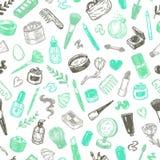 Schoonheidsmiddelen en samenstelling Patroon Stock Afbeelding