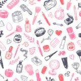 Schoonheidsmiddelen en samenstelling Patroon Royalty-vrije Stock Afbeelding