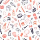 Schoonheidsmiddelen en samenstelling Patroon Stock Foto