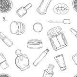 Schoonheidsmiddelen, make-up en schoonheid stock illustratie