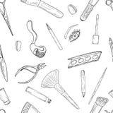 Schoonheidsmiddelen, make-up en schoonheidspatroon vector illustratie