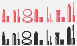 Schoonheidsmiddelen makeup auteursillustratie in vector Royalty-vrije Stock Foto