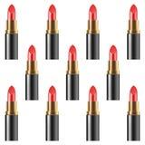 Schoonheidsmiddelen makeup Lippenstiftpatroon Rode lippenstift Duif als symbool van liefde, pease royalty-vrije illustratie