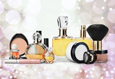 Schoonheidsmiddelen, Samenstelling, Parfum Royalty-vrije Stock Afbeelding