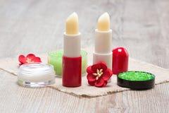 Schoonheidsmiddelen voor de zorg van de lippenhuid Royalty-vrije Stock Afbeelding