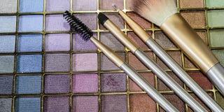 Schoonheidsmiddelenuitrusting voor gezichtssamenstelling Stock Foto