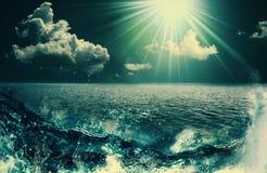 Schoonheidsoceaan Stock Afbeeldingen