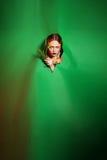Schoonheidsvrouw met bosbloemen Professionele Make-up en Royalty-vrije Stock Foto's
