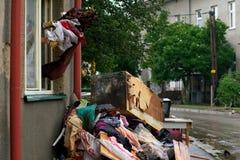 Schoonmakend huis Stock Foto