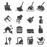 Schoonmakend pictogram Stock Foto's
