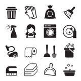 Schoonmakend pictogram Stock Afbeeldingen