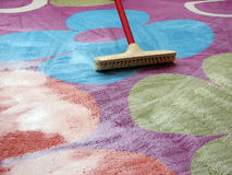 Schoonmakend tapijt Stock Foto's