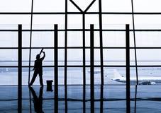 Schoonmakend venster Stock Foto