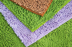 Schoonmakend voetendeurmat of tapijt voor schoon uw voeten Stock Fotografie