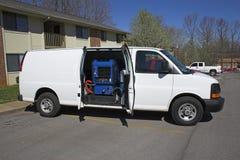 Schoonmakende bestelwagen 1 van het tapijt Stock Fotografie