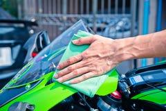 Schoonmakende motorfiets Royalty-vrije Stock Afbeeldingen
