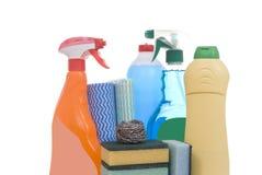 Schoonmakende producten Stock Foto