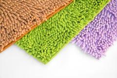 Schoonmakende van het voetendeurmat of tapijt textuur Stock Foto