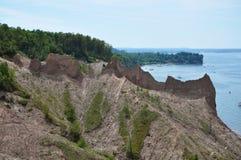 Schoorsteen Bluffs dichtbij Grote Sodus Baai, New York Royalty-vrije Stock Foto's