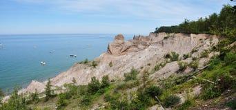 Schoorsteen Bluffs dichtbij Grote Sodus Baai, New York royalty-vrije stock fotografie